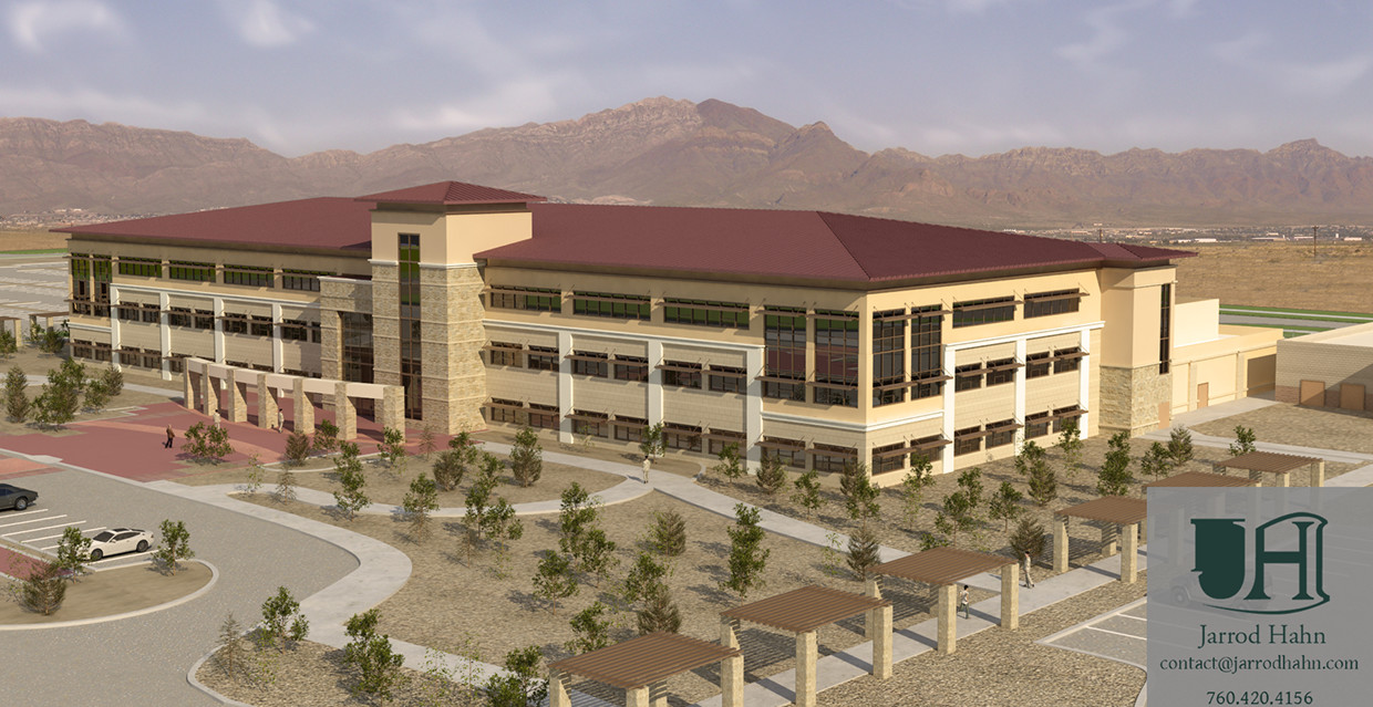 Architectural Rendering | Fort Bliss Command Headquarters| RQ Construction