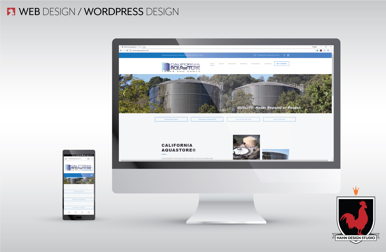 Website Design & Template Modification | California Aquastore