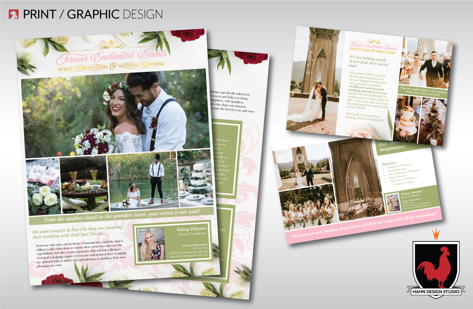 FLYER DESIGN | FOREVER ENCHANTED EVENTS | Hahn Design Studio