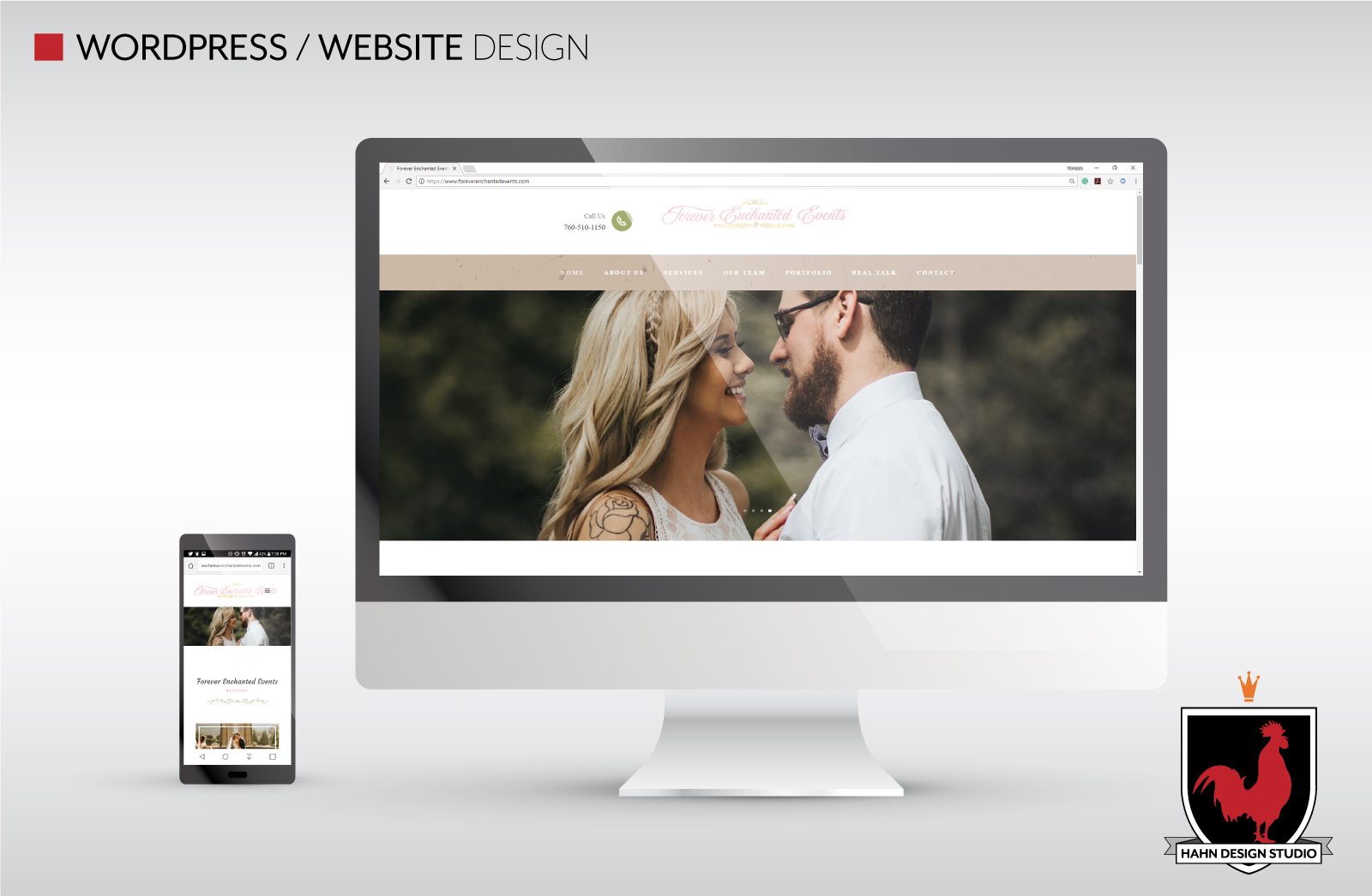 Website Design & Template Modification   Forever Enchanted Events