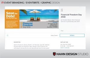 Eventbrite Ticketing Page creation | Financial Freedom Day 2018
