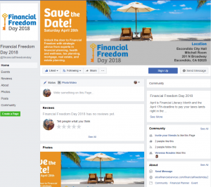 Facebook Page Creation | Financial Freedom Day 2018