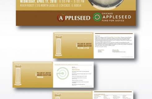 Event Program Print Design for the 2018 Pillars of Justice Awards Campaign