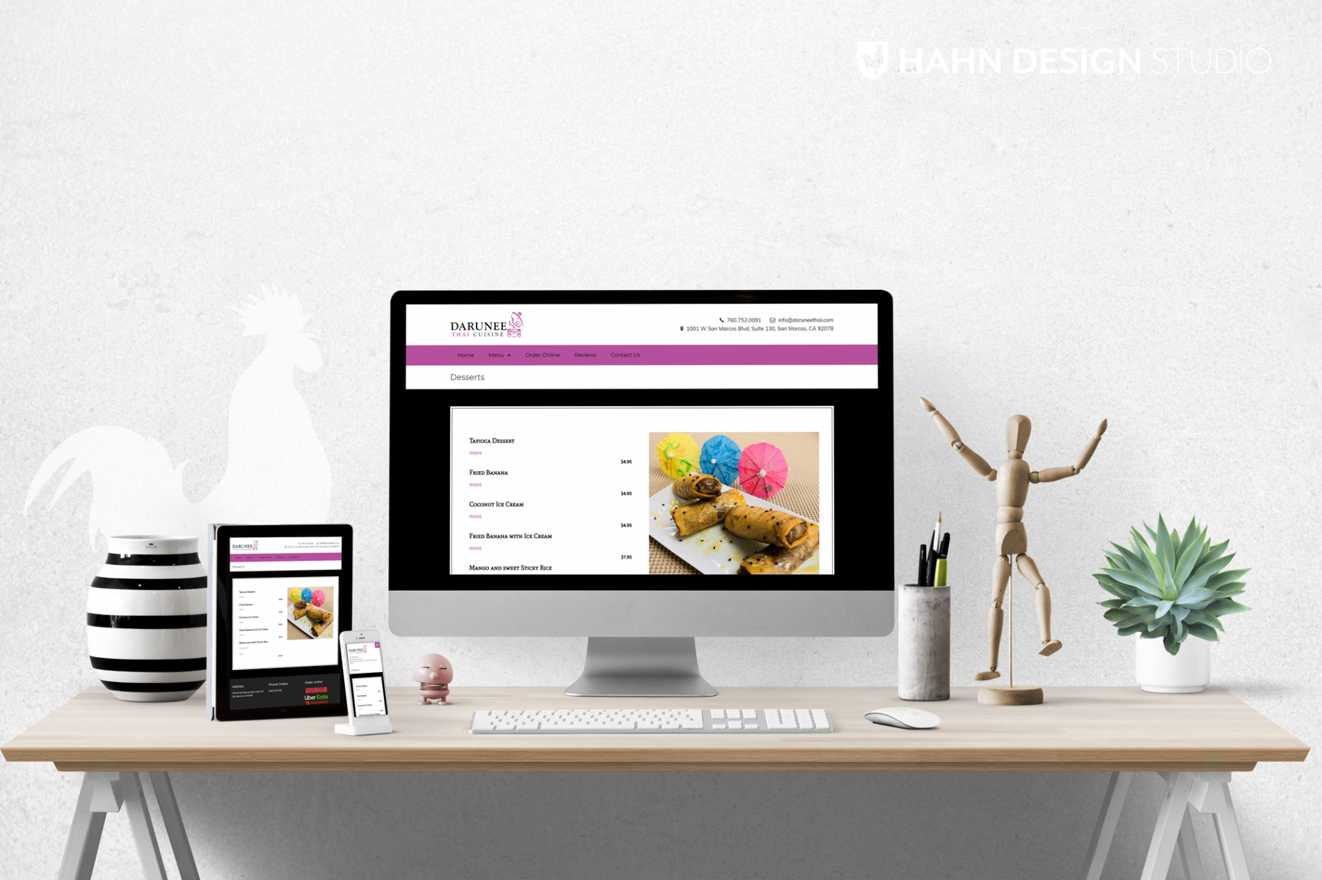 Website Design for Darunee Thai Cuisine, San Marcos, CA | Hahn Design Studio