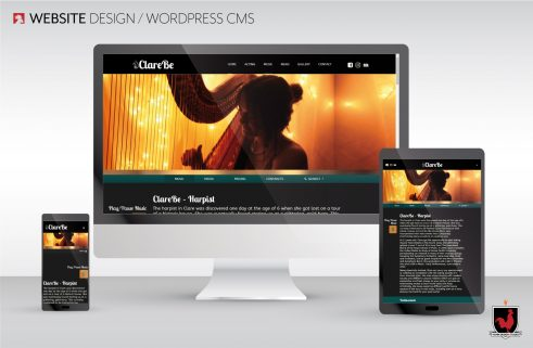 Website Design | Clare Be | Hahn Design Studio, San Marcos, California