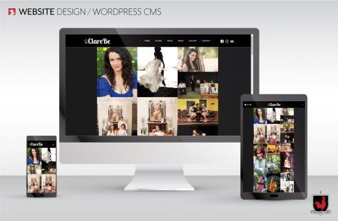 Website Design | Clare Be | Hahn Design Studio, San Marcos, California