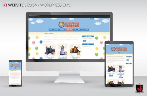 Website Design, Zoe's Fun Jumpers | Hahn Design Studio, San Marcos, California